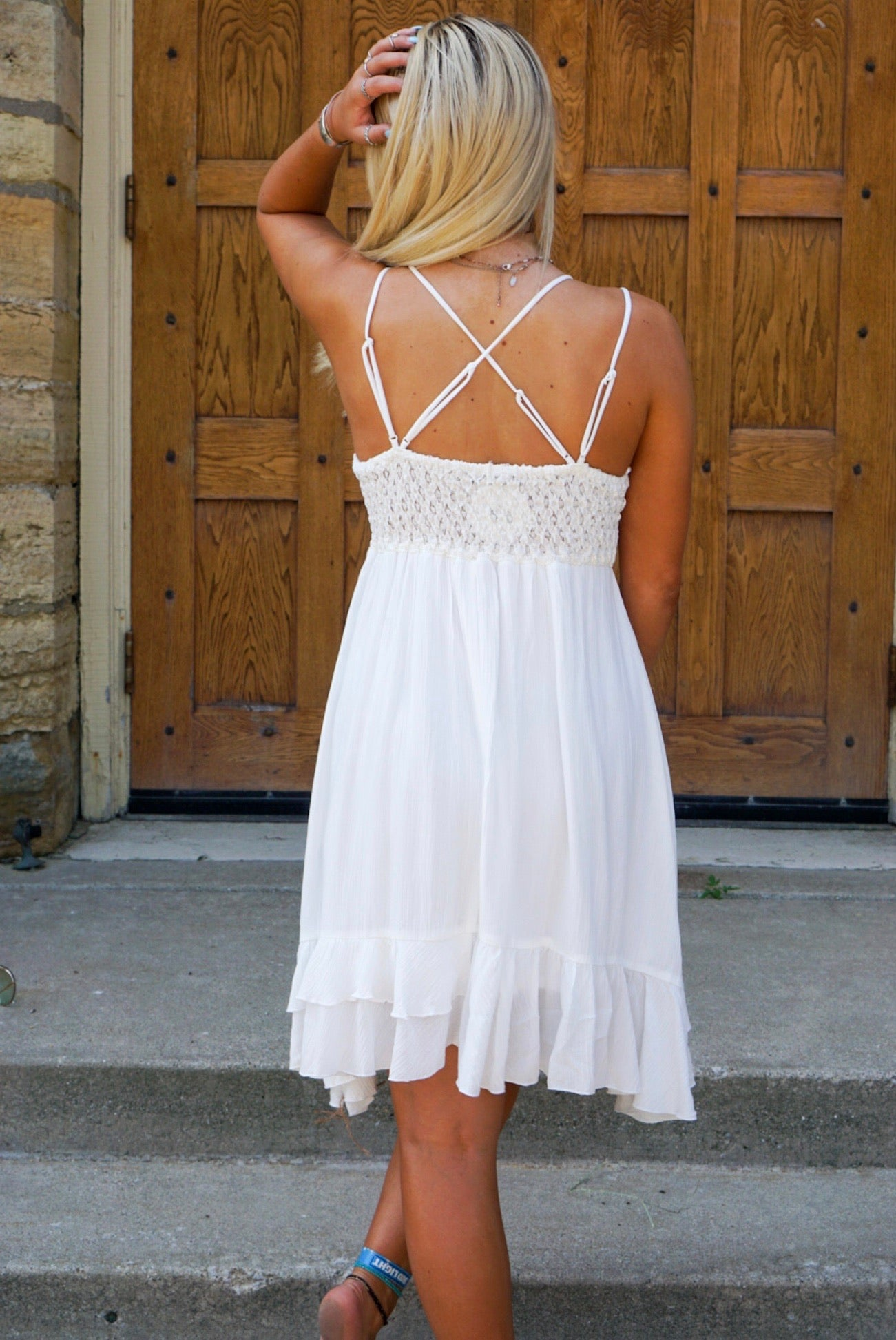 All Nighter Ivory Lace Dress