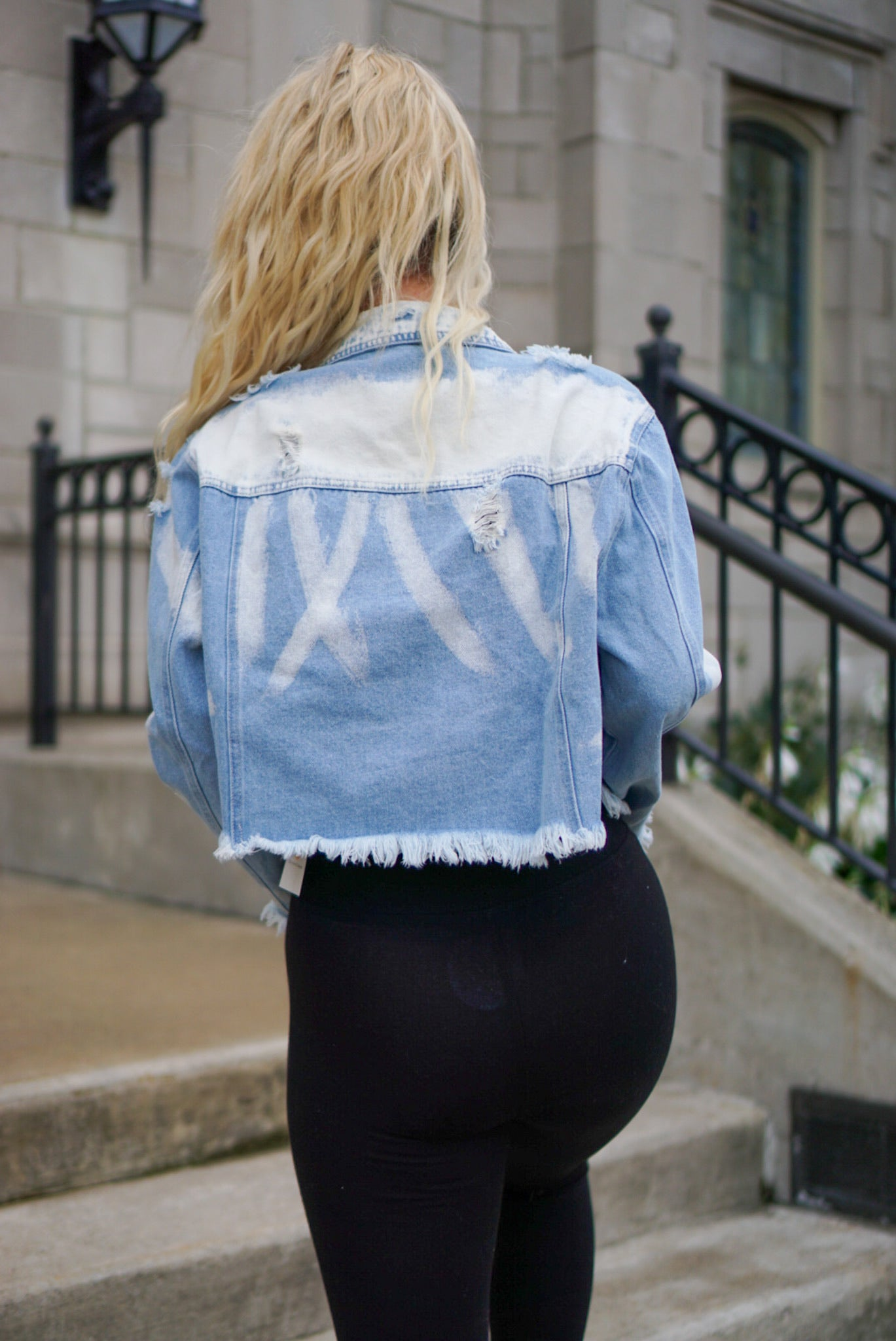 My Favorite Bleached Denim Jacket