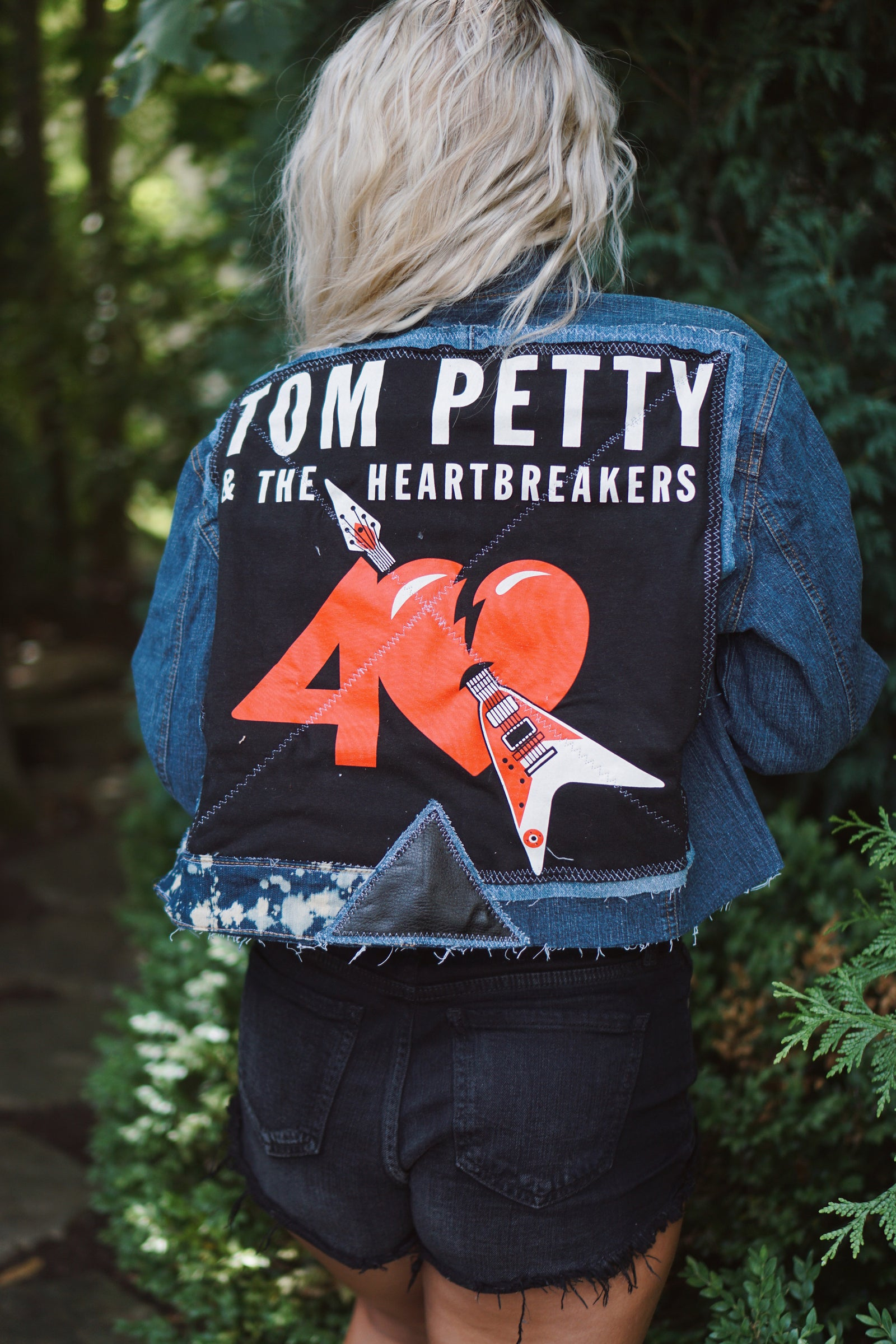 Custom Tom Petty & The Heartbreakers Denim Jacket