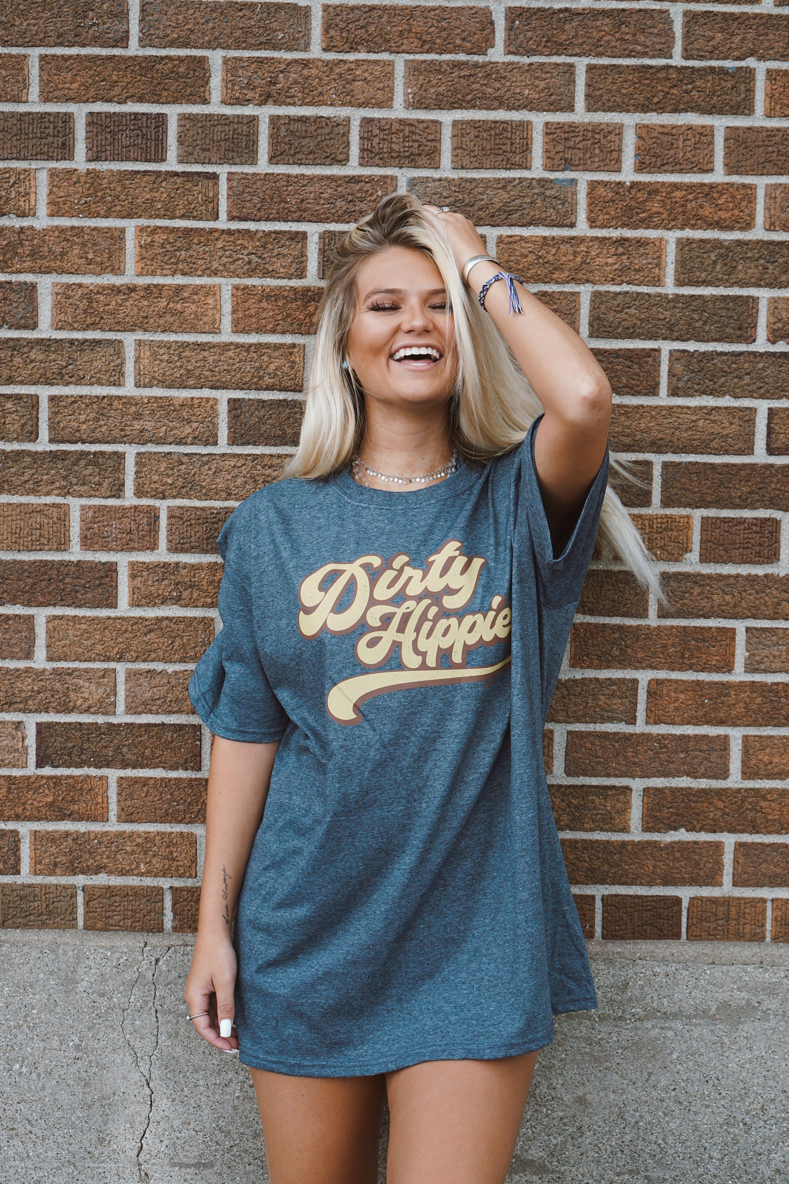 Dirty Hippie Charcoal Tee