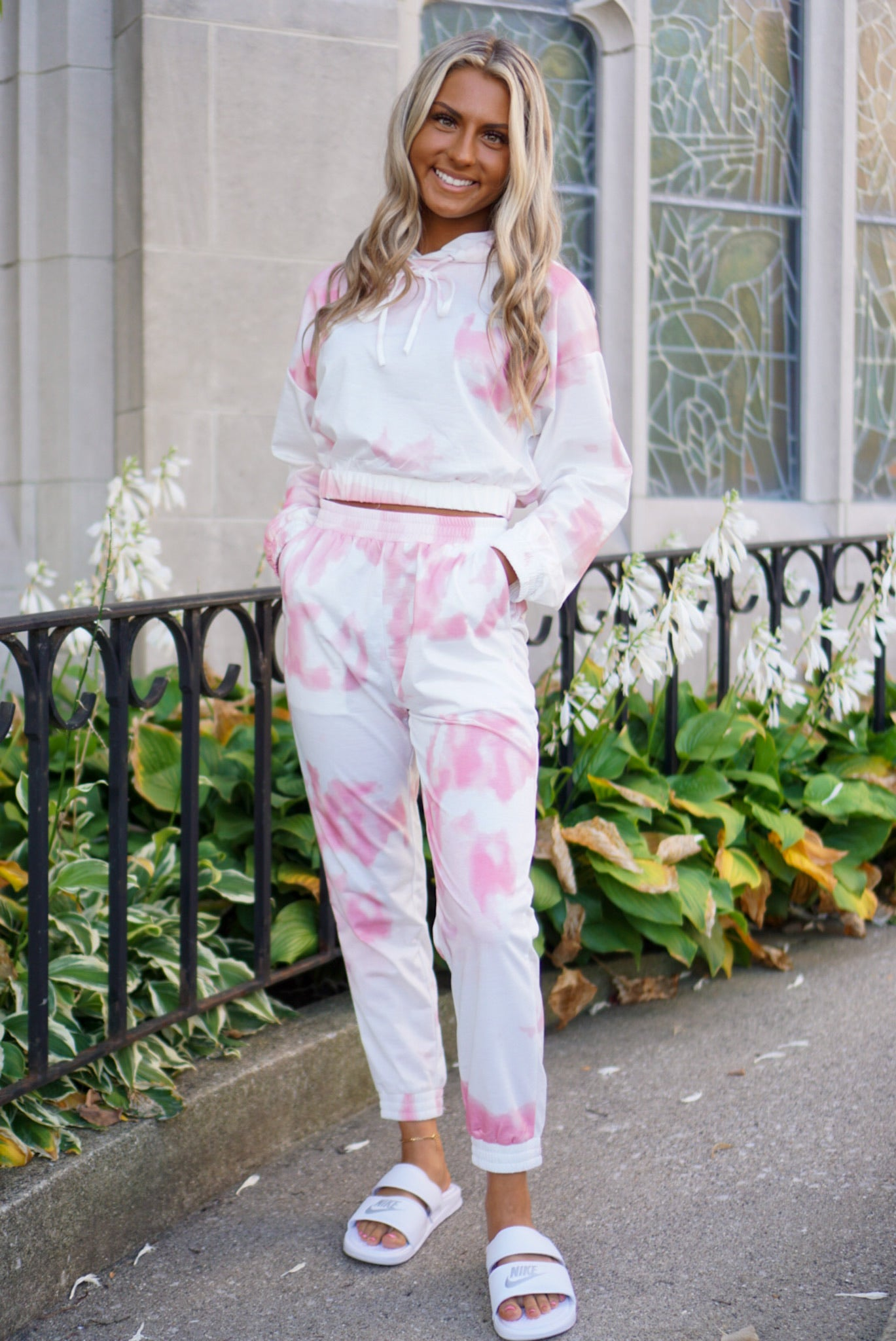 Mellow Out Rose Tie Dye Hoodie