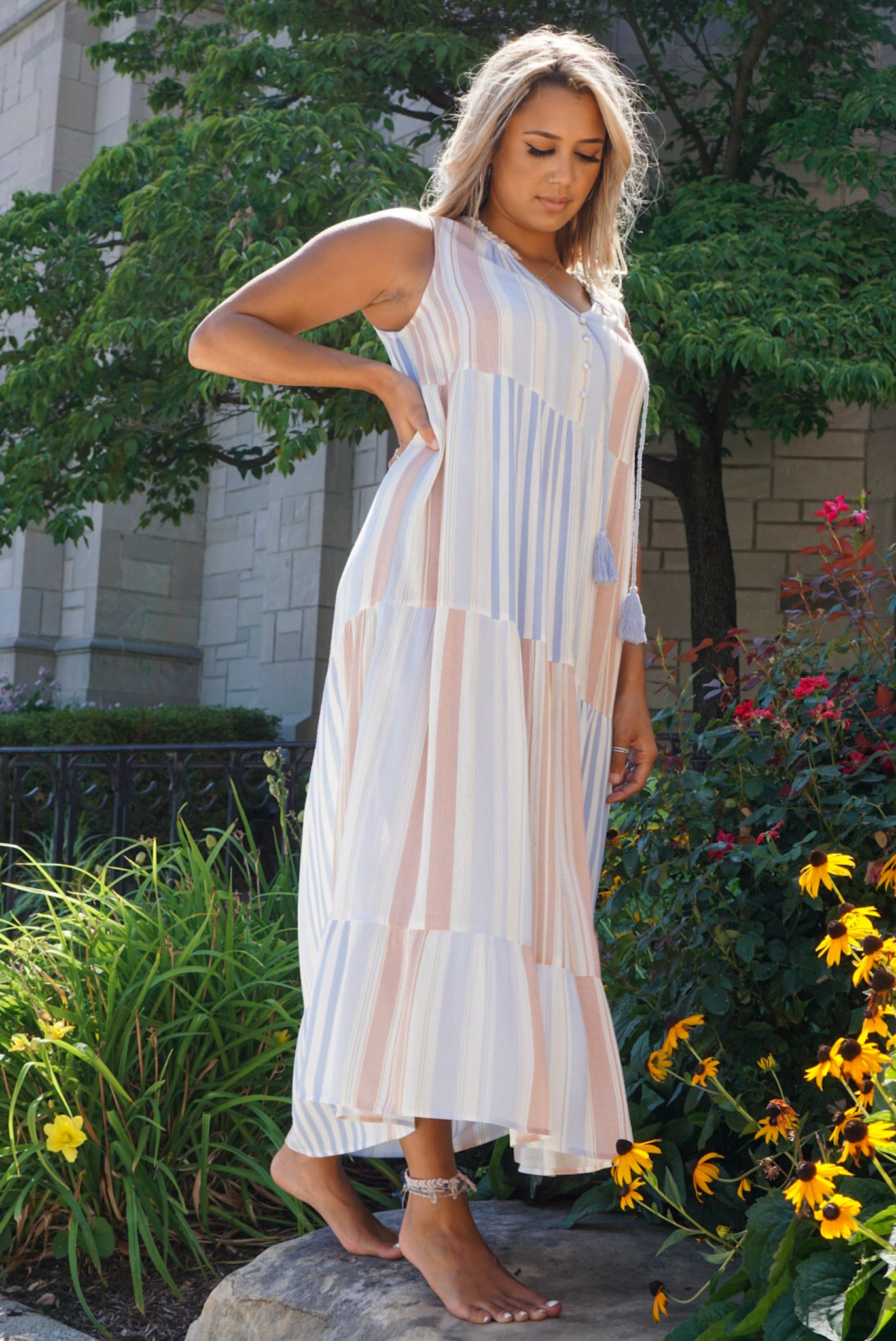 Heaven Bound Sky Pastel Maxi Dress