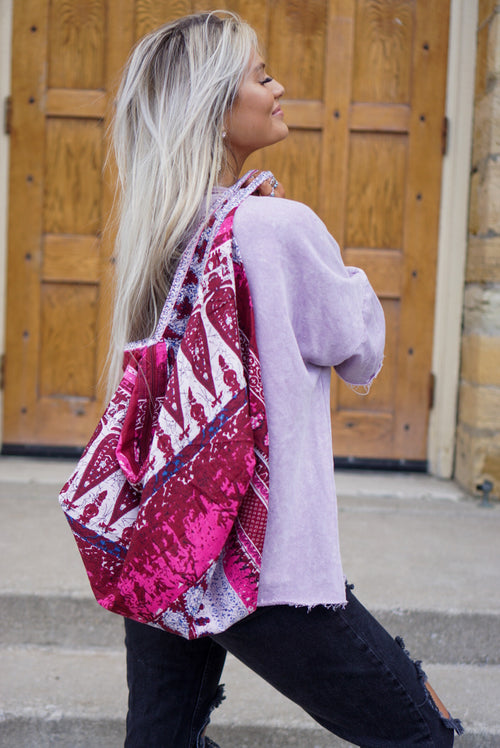 Berry Printed Boho Shoulder Bag