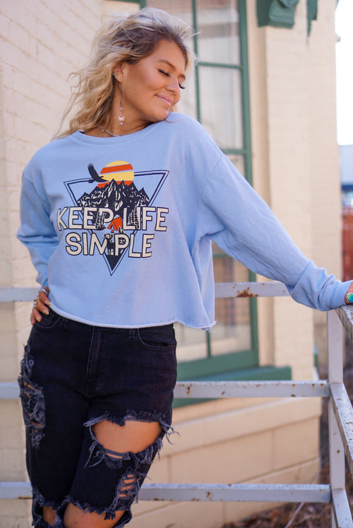 Keep It Simple Baby Blue Pullover