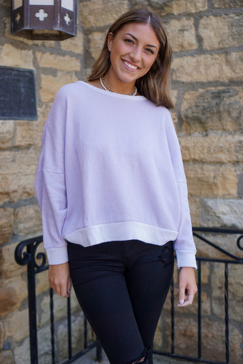 Rainy Dayz Lilac Top