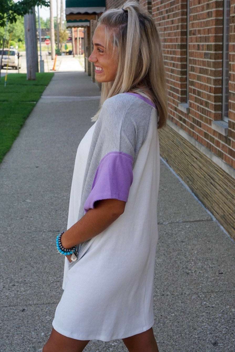 Ivory Color Block Top