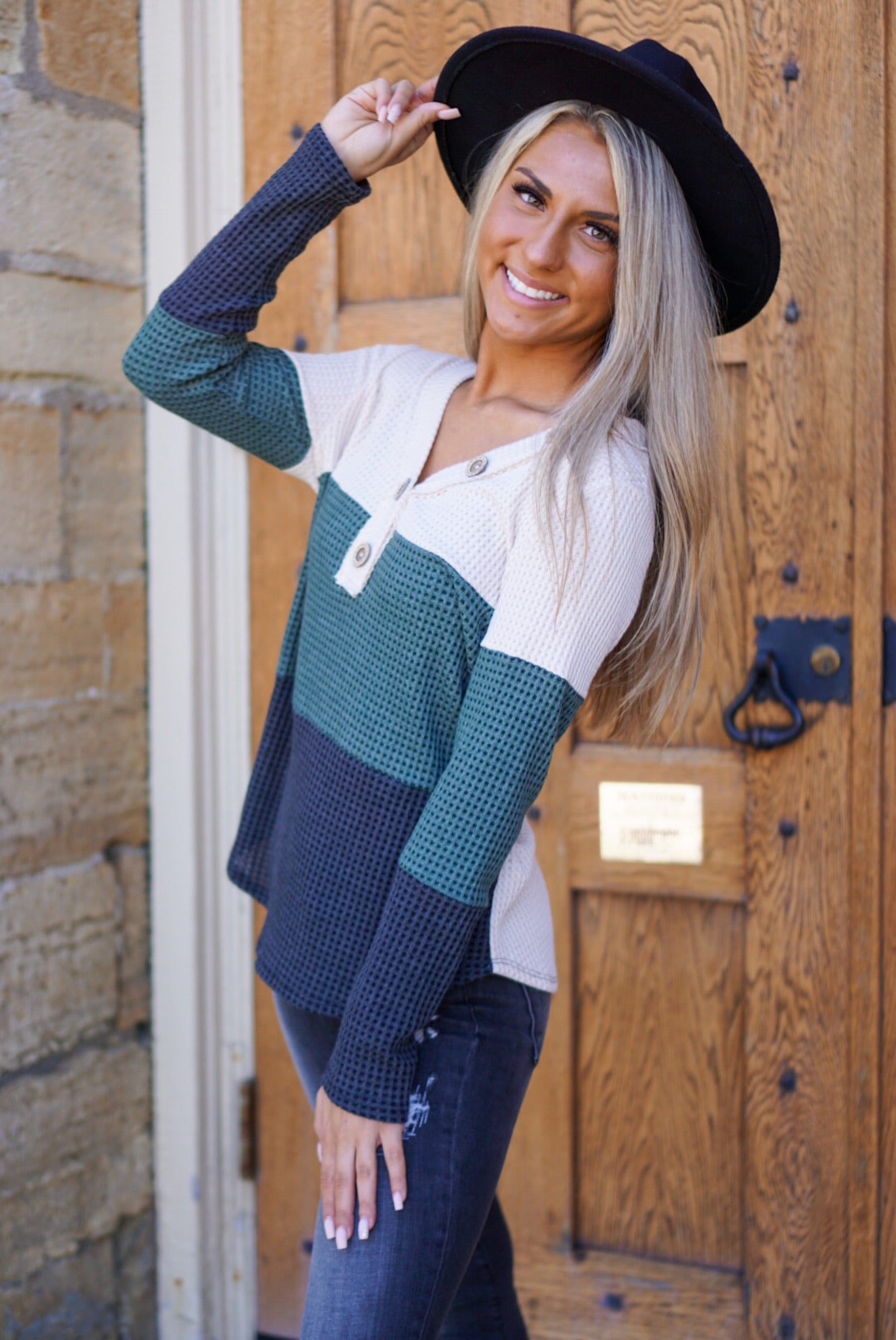 Search Is Over Green Color Block Thermal