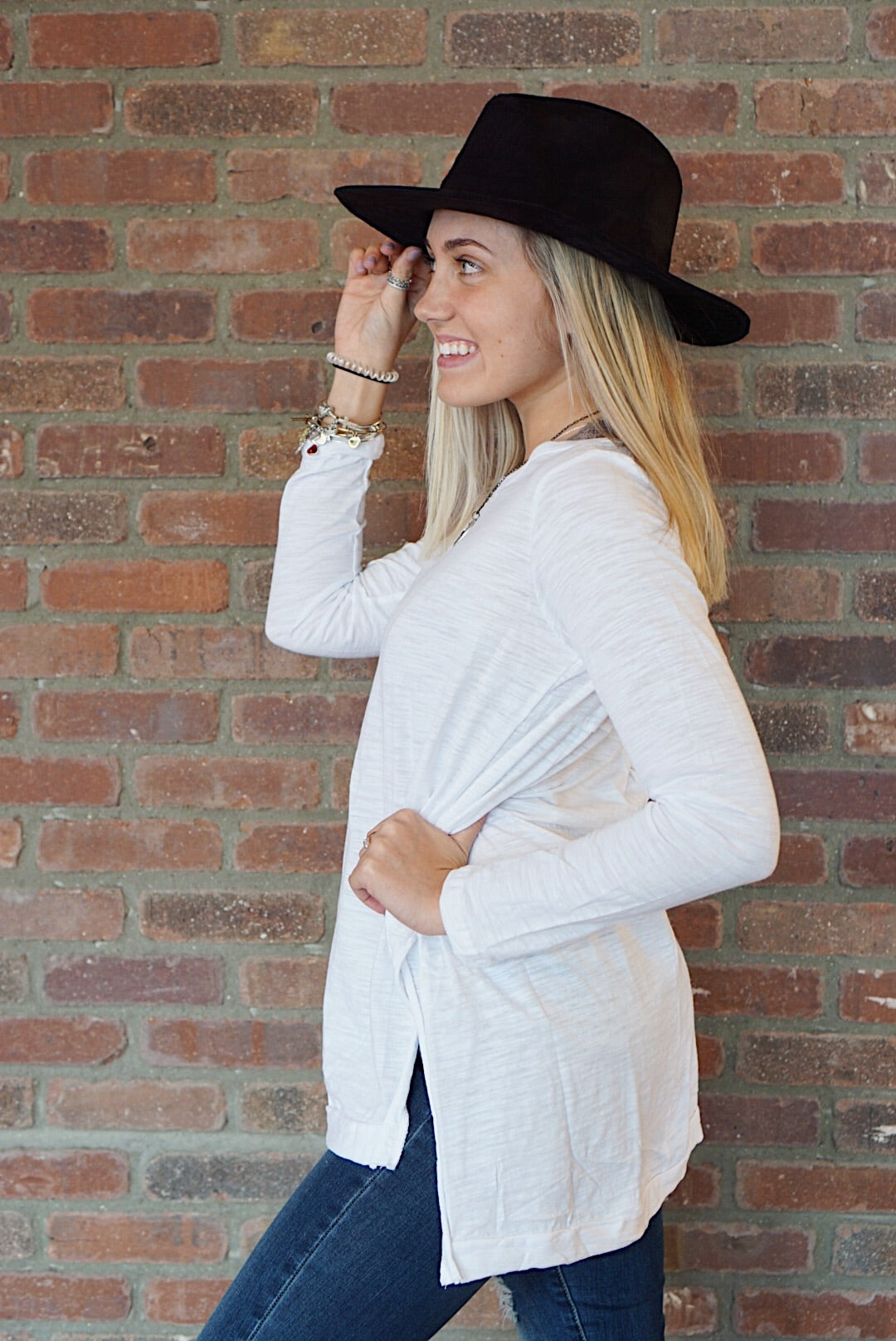 White High Low Tee