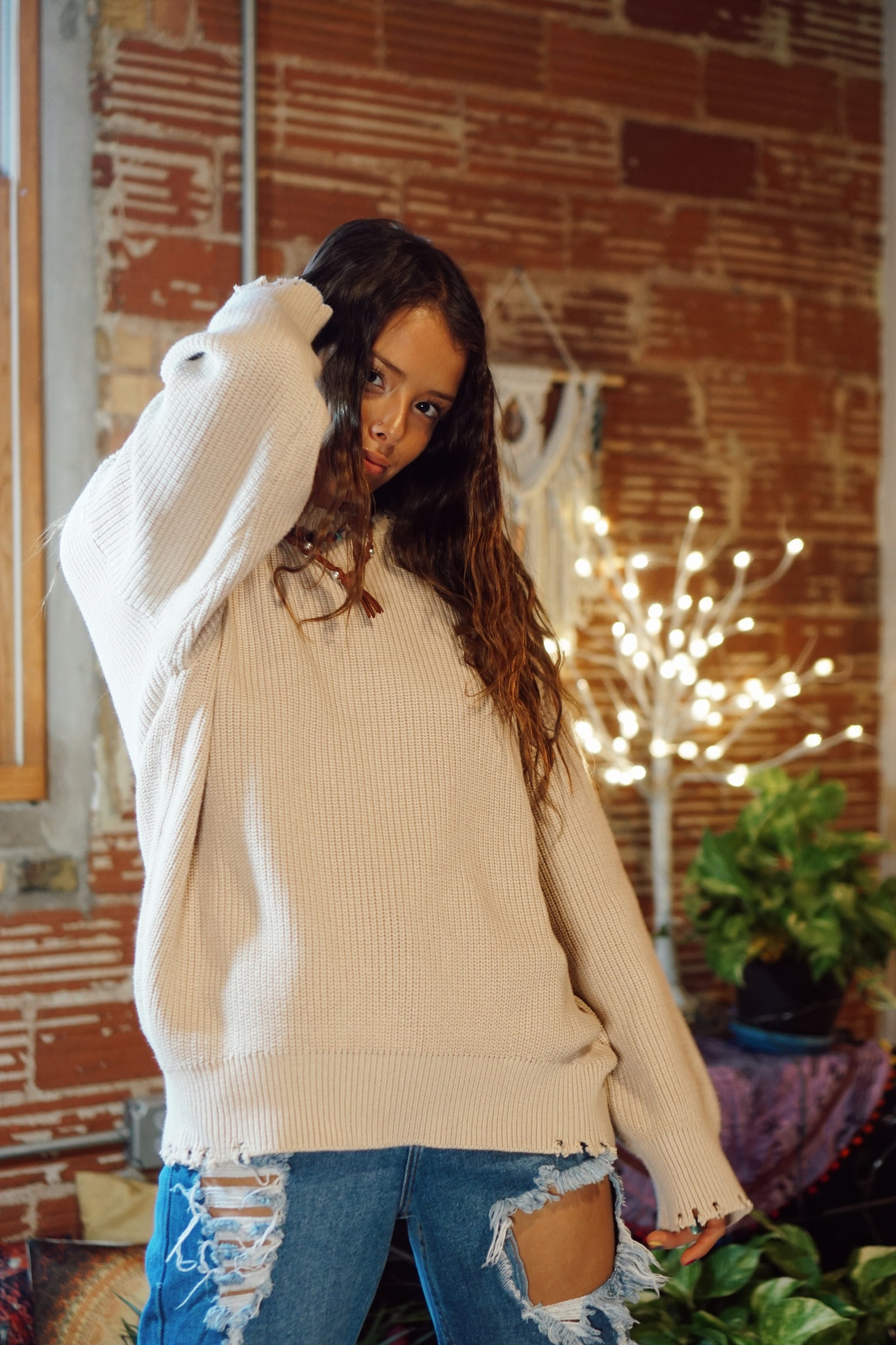 FINAL SALE Soft Focus Taupe Sweater