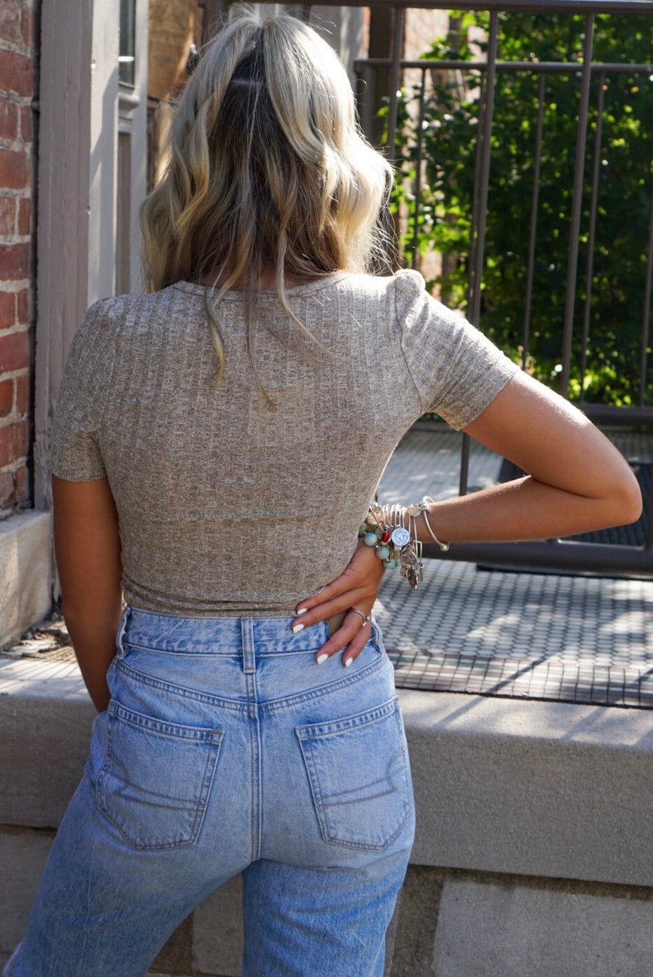 Sally Stretchy Knit Top