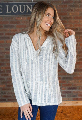 Terry Cloth Open Cardigan
