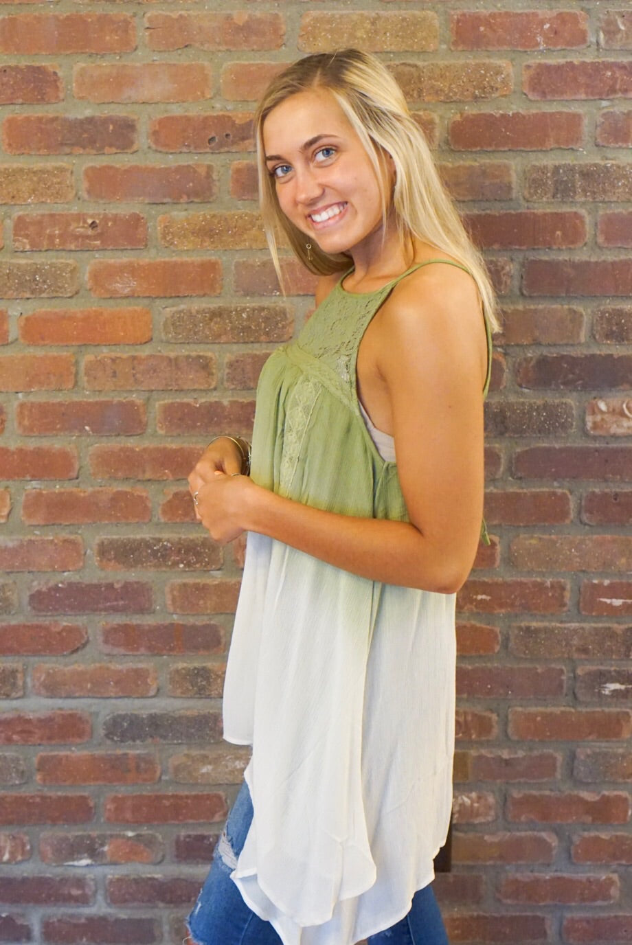 Olive Ombre Tank