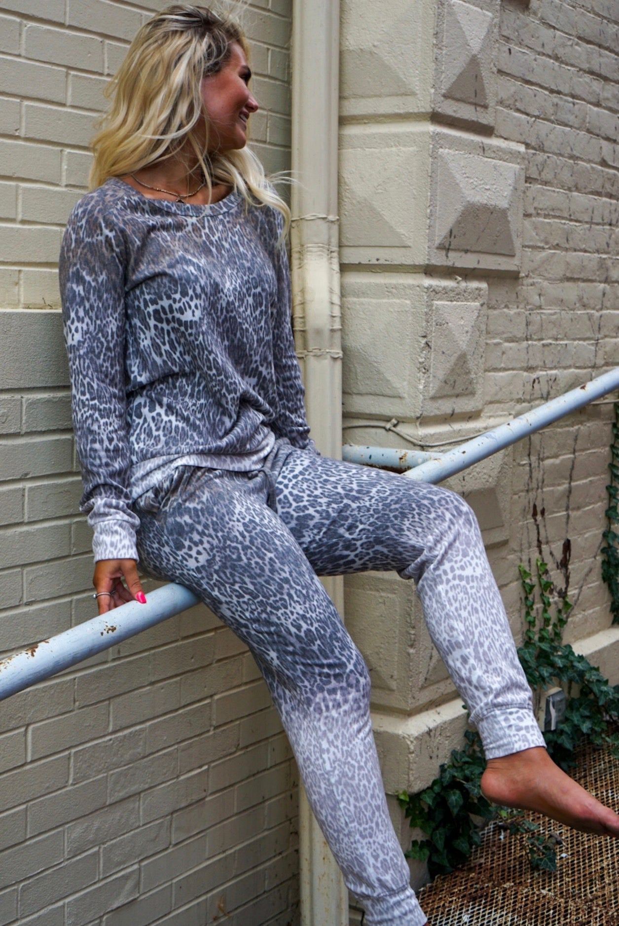 Lily Leopard Ombre Joggers