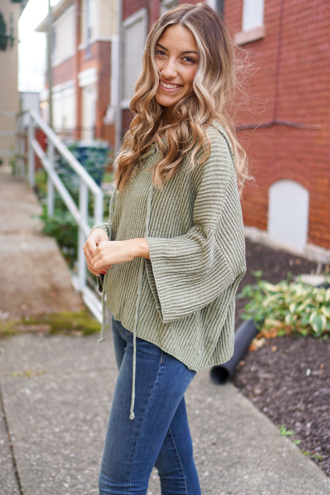 Elias Olive Knit Sweater