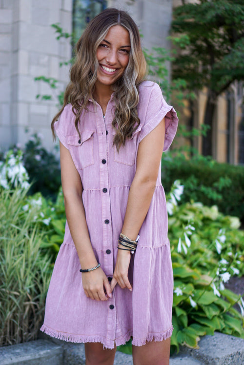 Sweet On You Mauve Dress