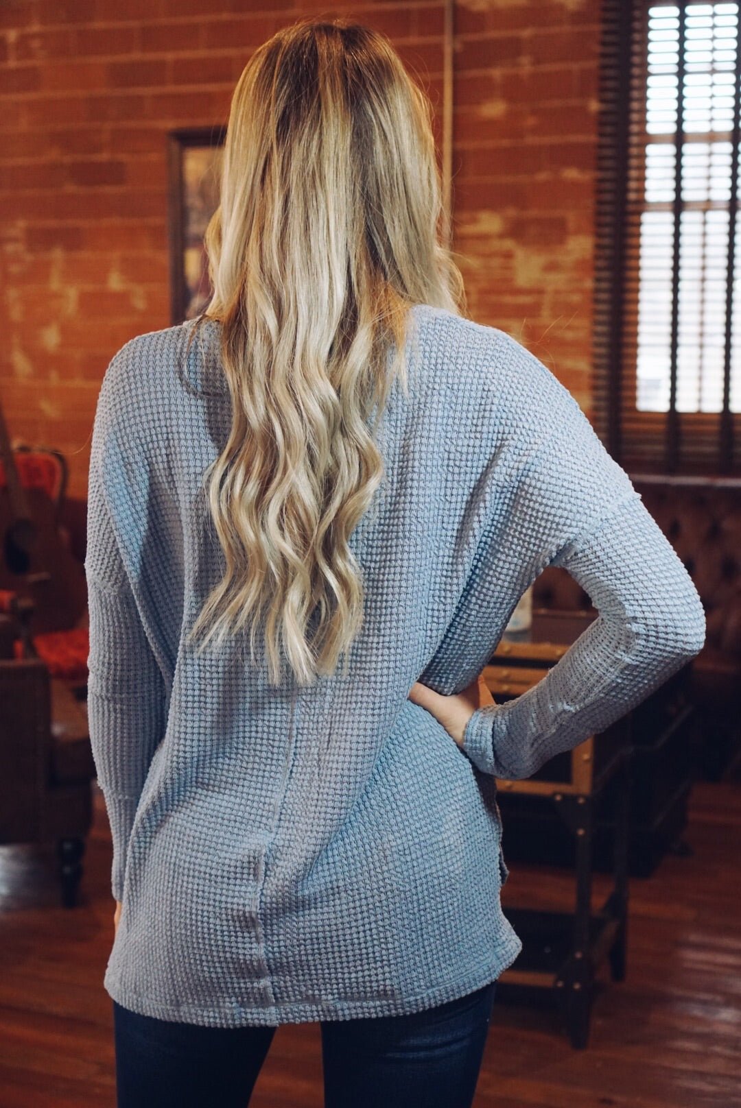 Waffle Knit Thermal Top