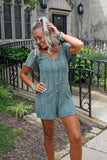 Olive Washed Romper