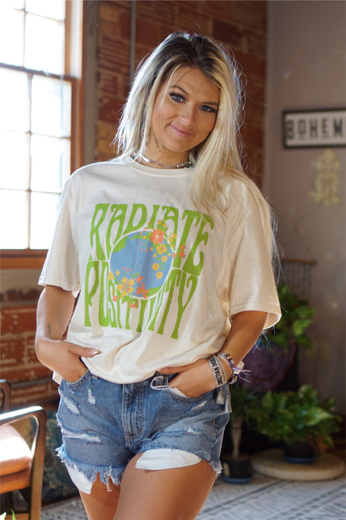 Radiate Positivity Cream Tee