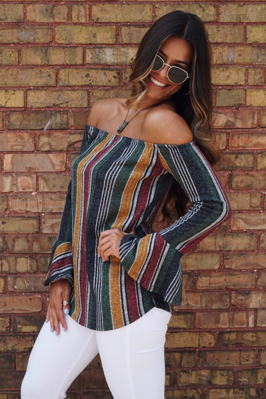 Suzie OFS Multi Striped Top