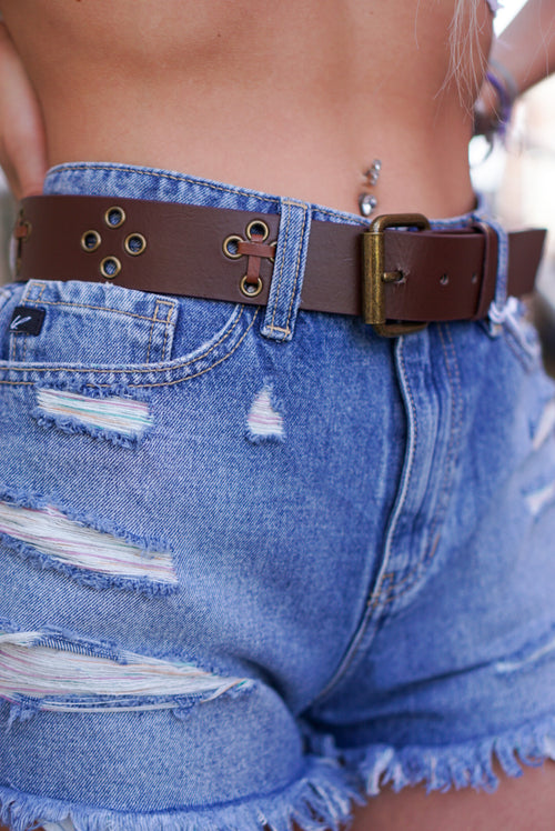 Eyelet Brown Belt