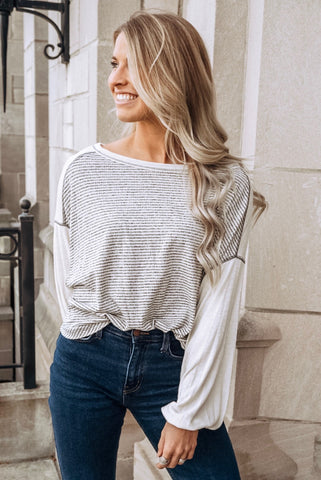 Amira Heathered Top