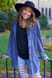 Forever Your's Denim Washed Cord Tunic