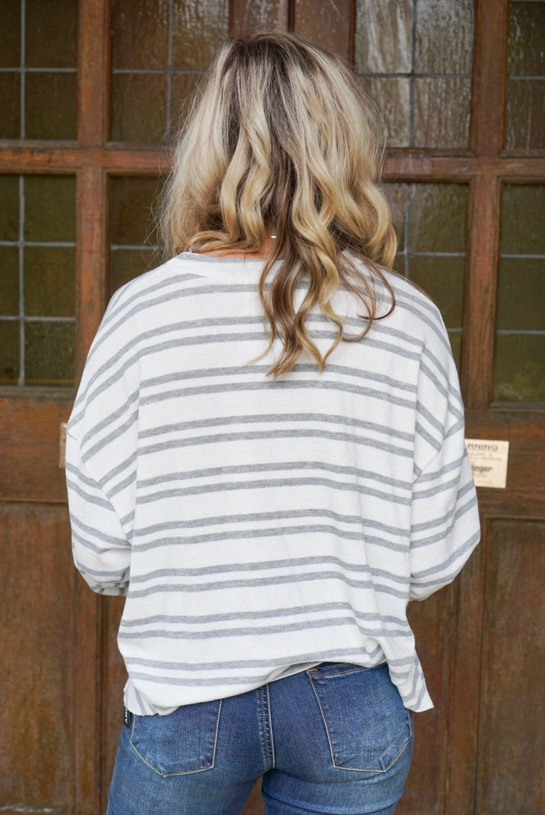 Dawn Ivory Striped Top
