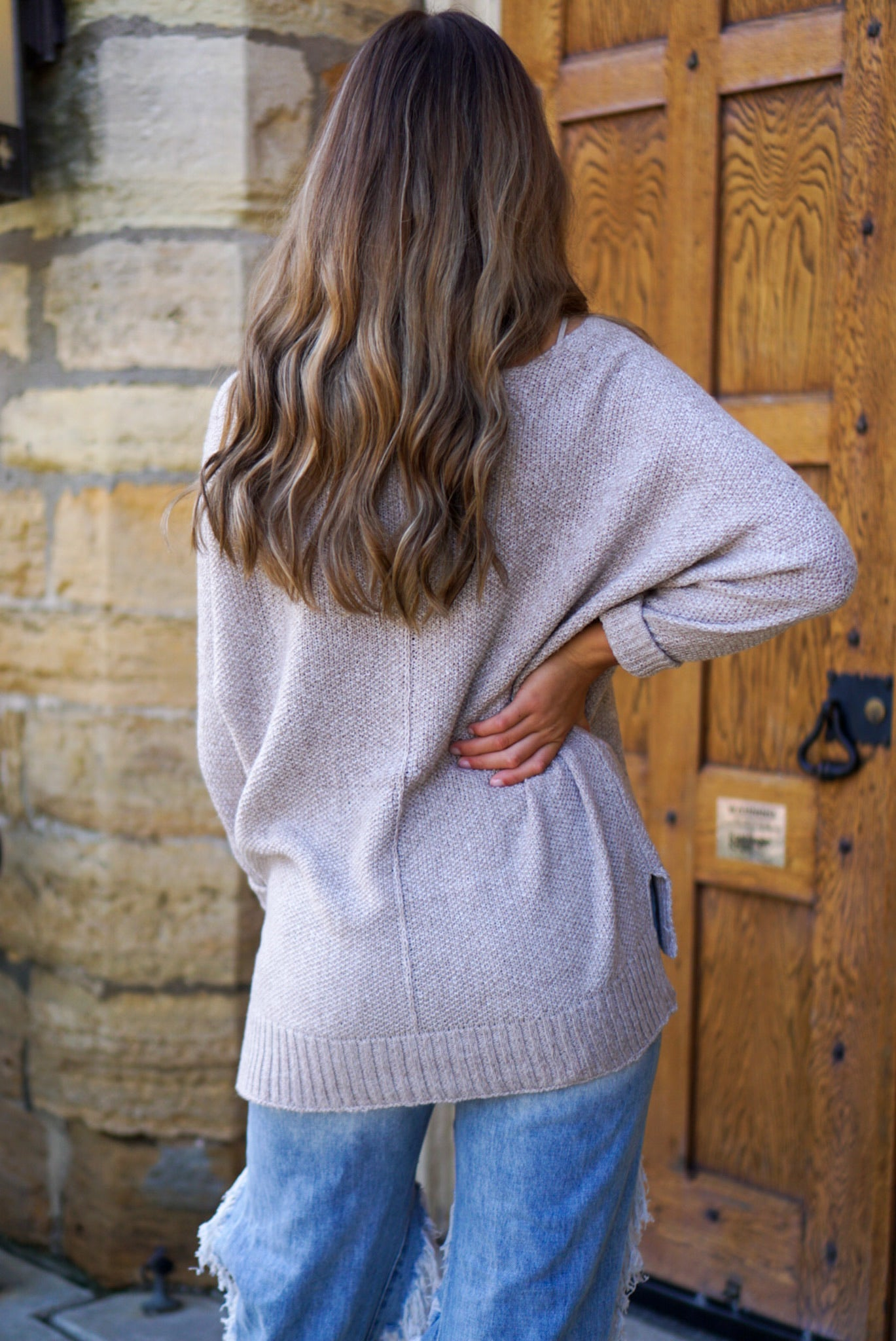 Brookside Butter Cream Knit Sweater
