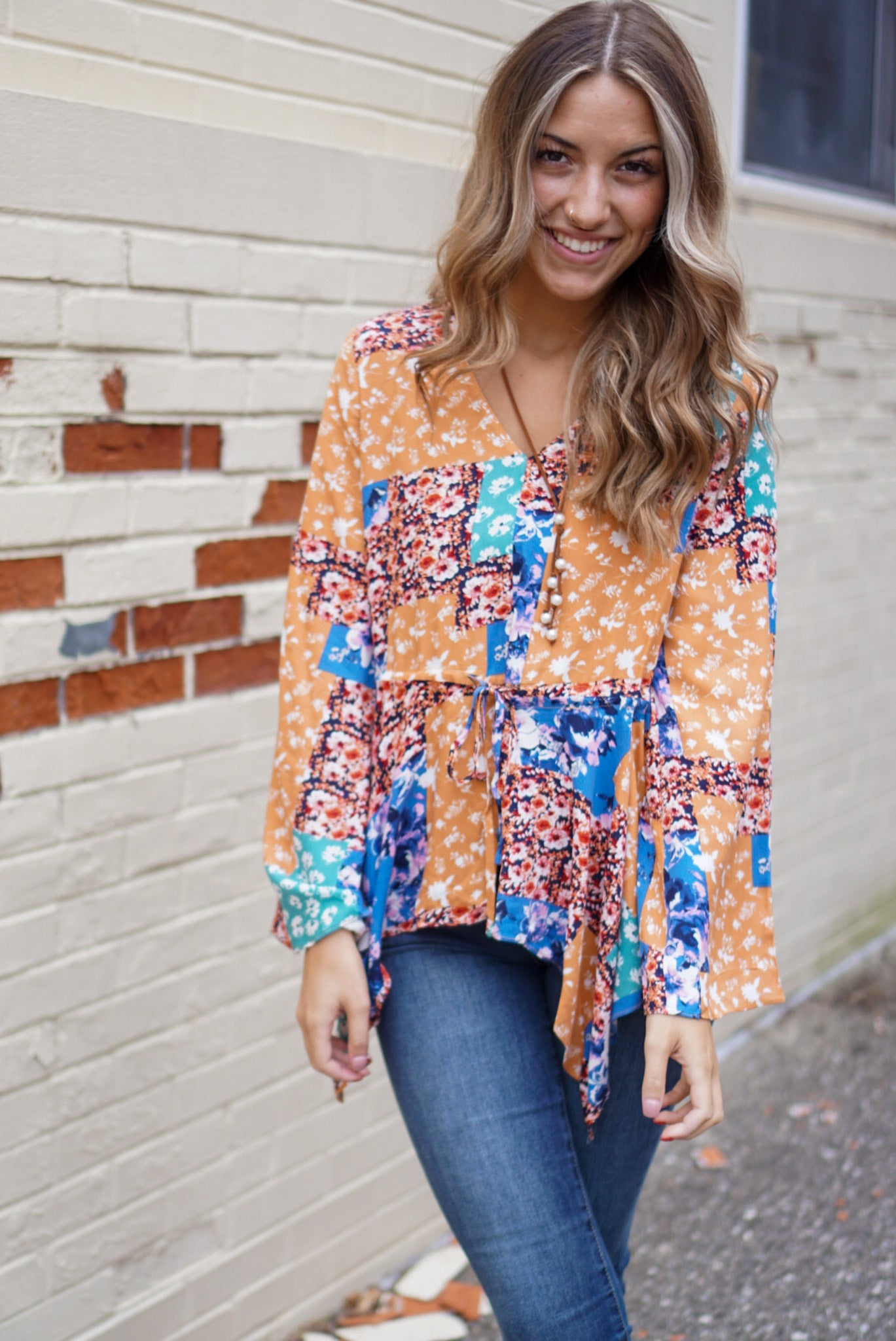 In Bloom Multi Floral Blouse