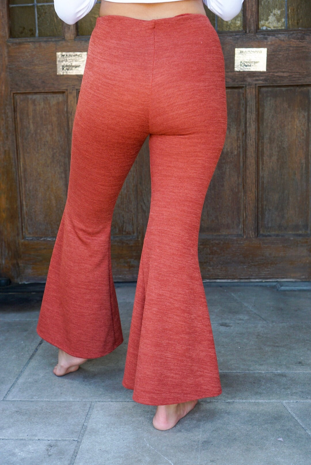 Michaela Rust Knit Flares