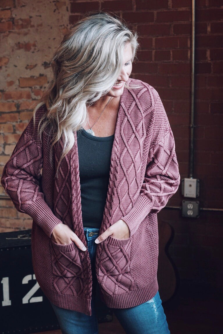 Ingrid Cable Knit Cardigan