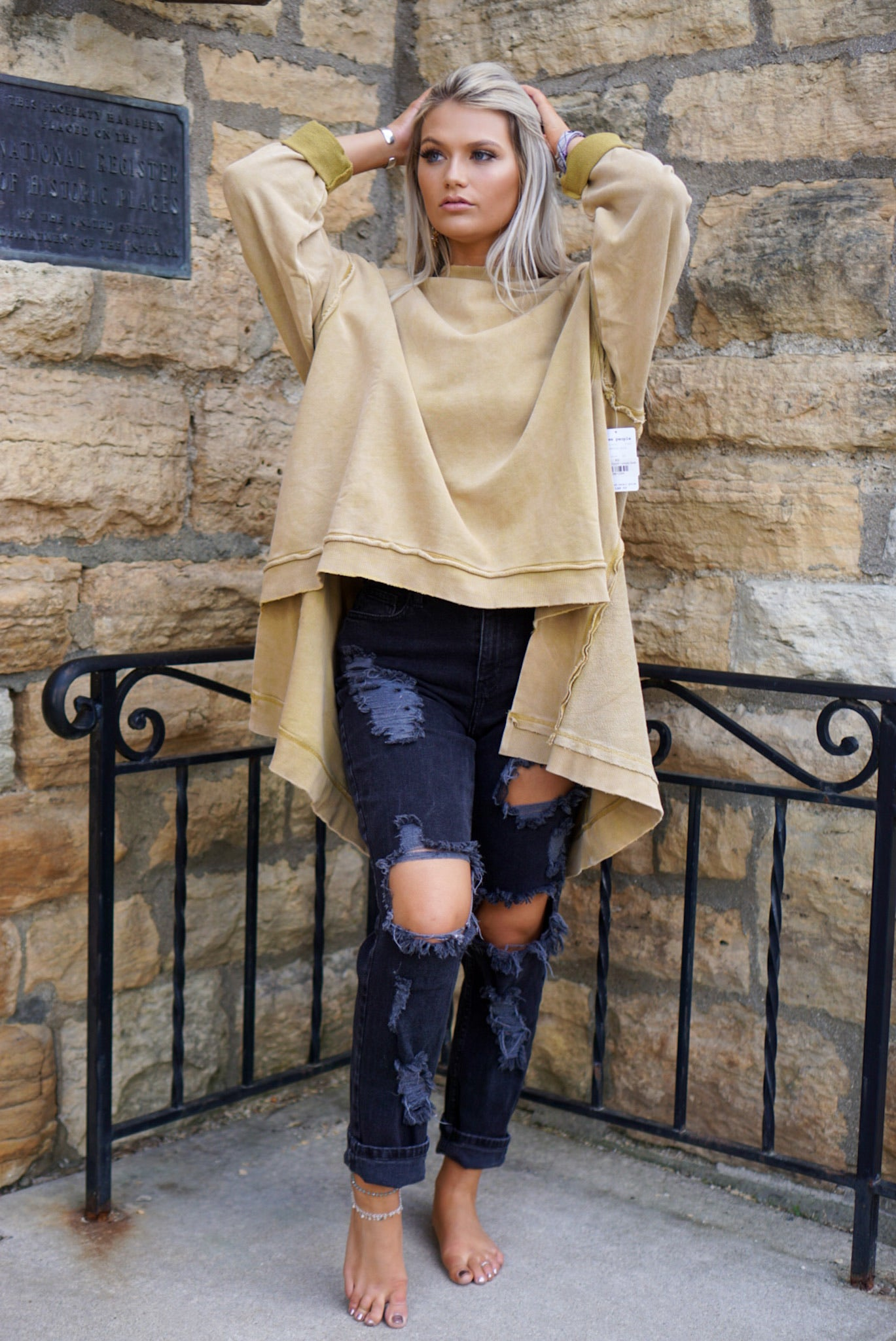 Free People Untold Gold Iggy Pullover