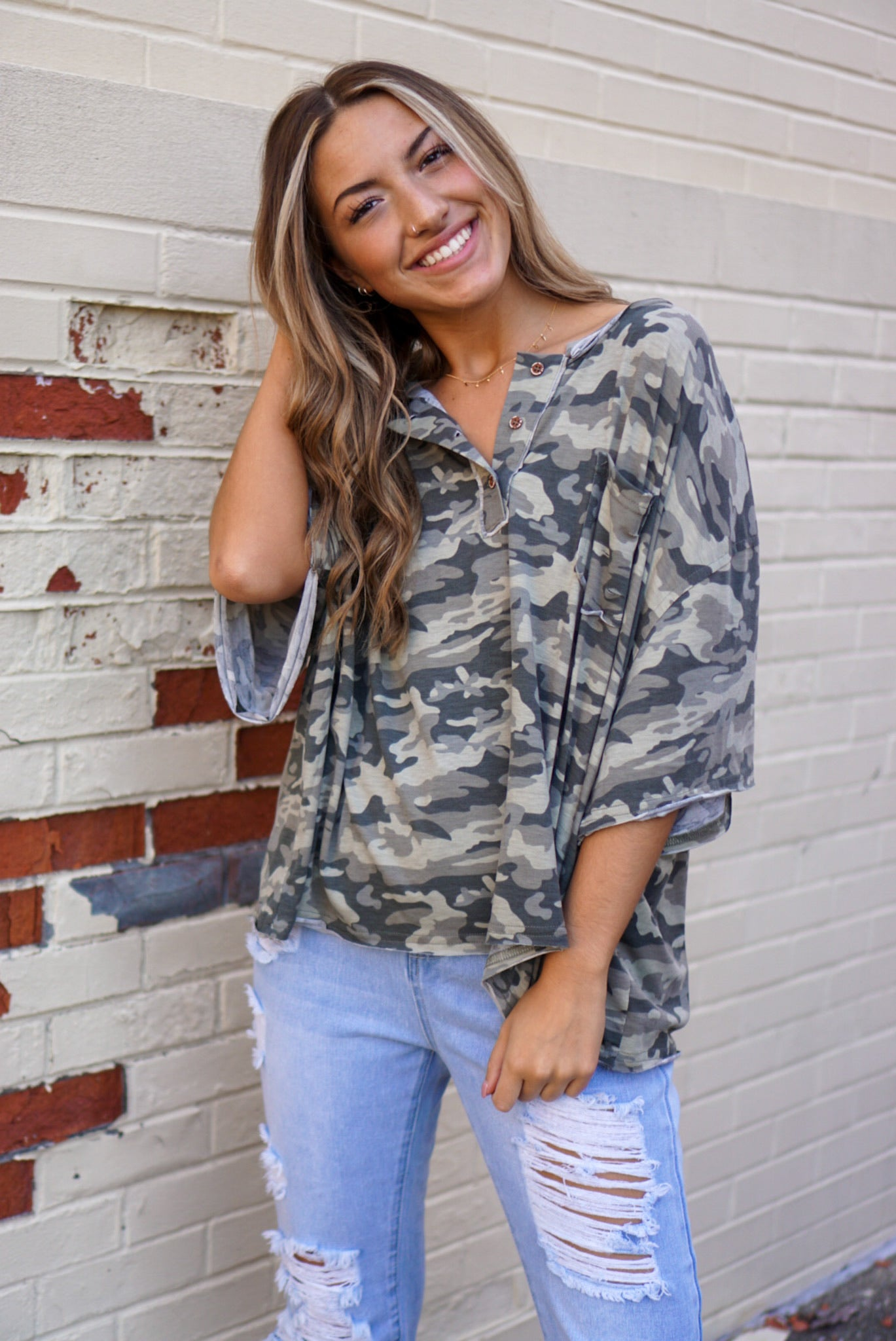 Fashion Killa Camo Top