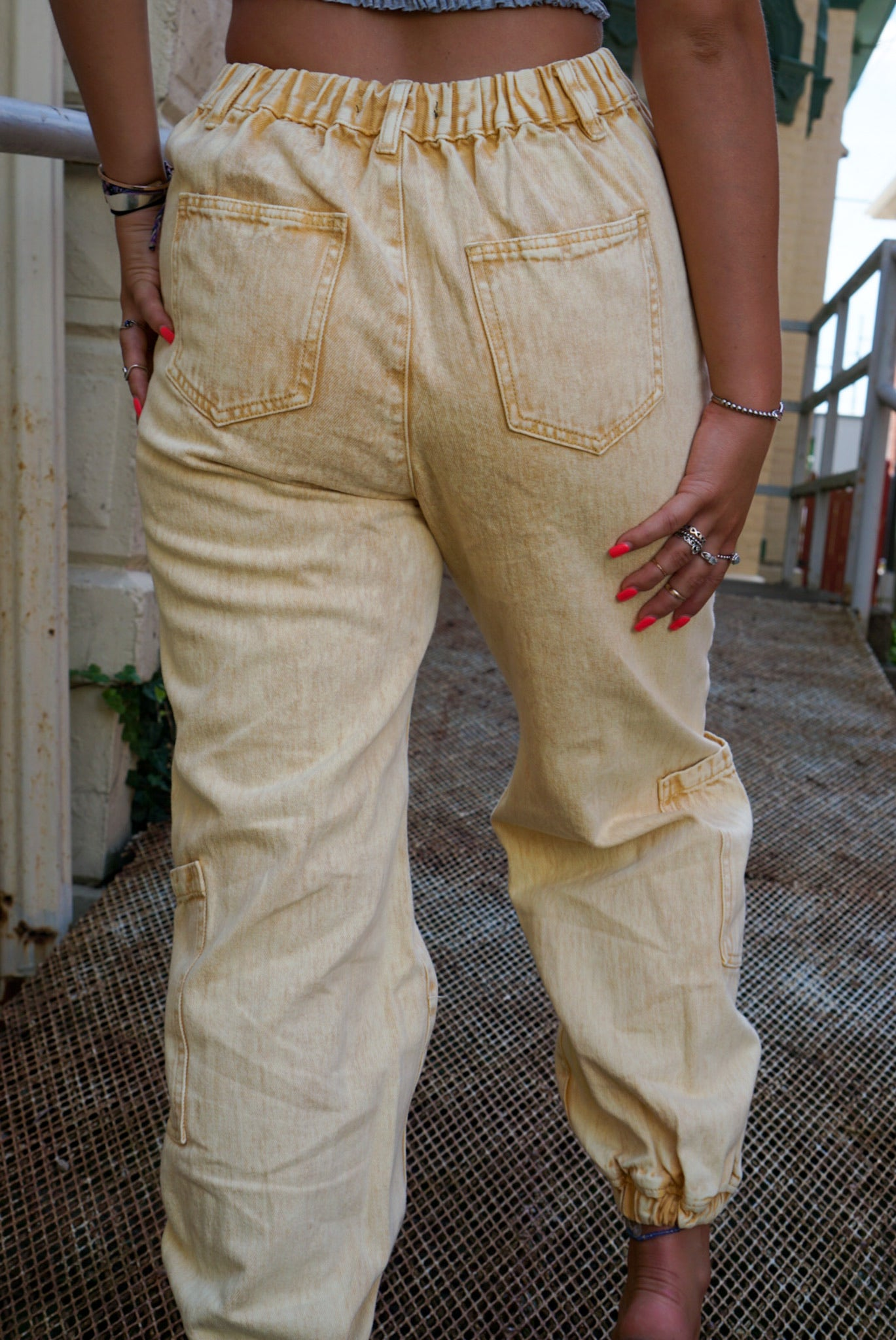 On Repeat Honey Cargo Pants