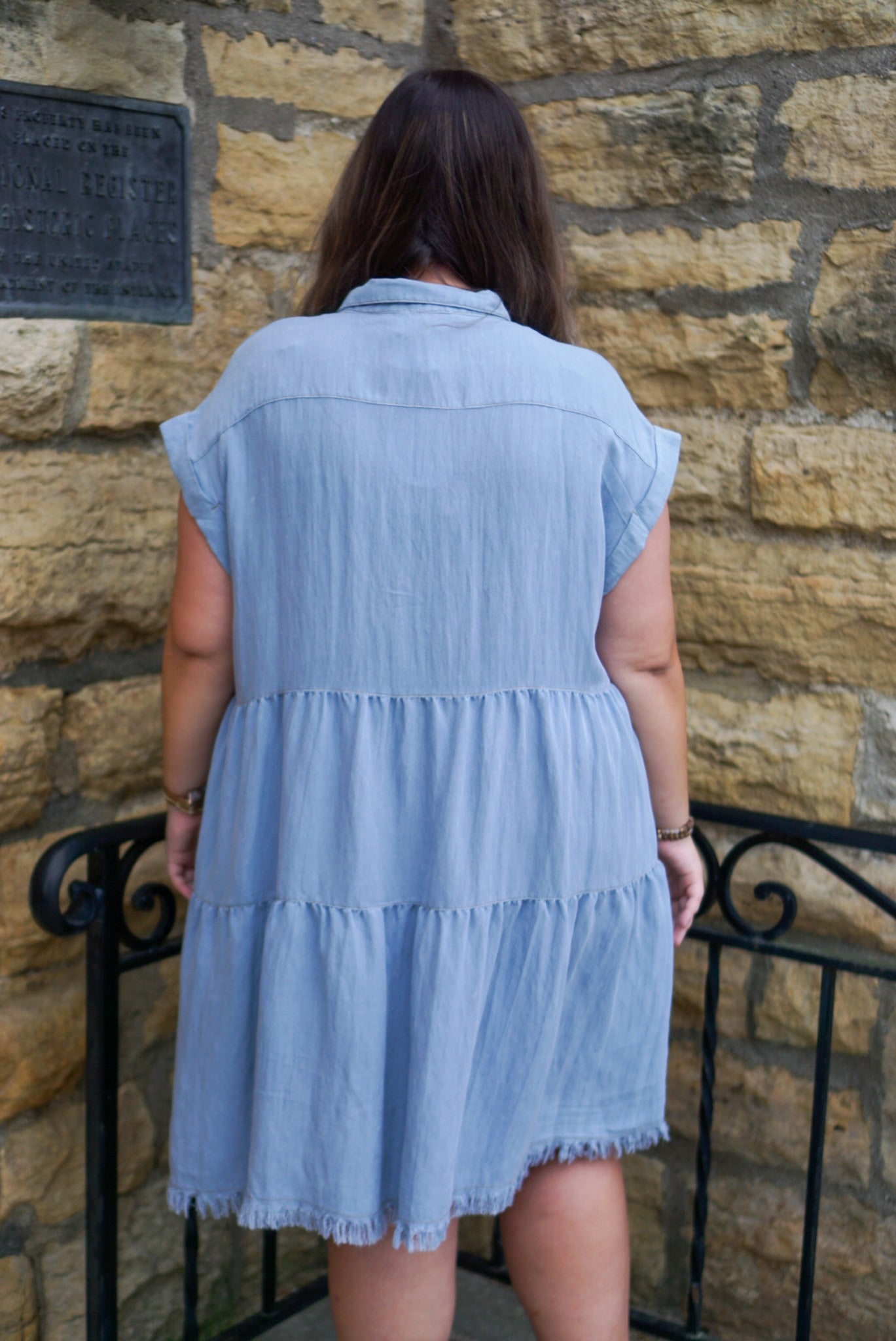 FINAL SALE Sweet On You Curvy Denim Dress