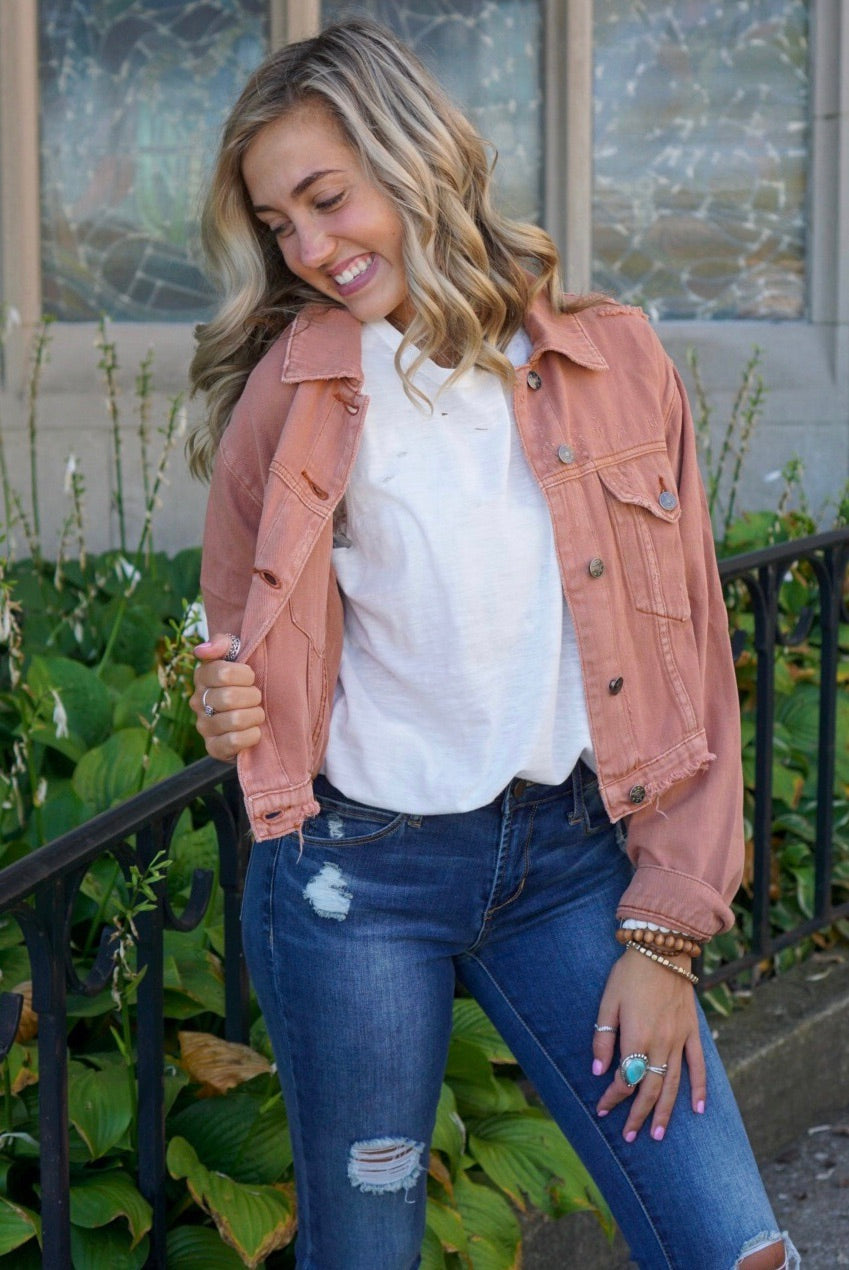 Jenny Clay Distressed Jacket
