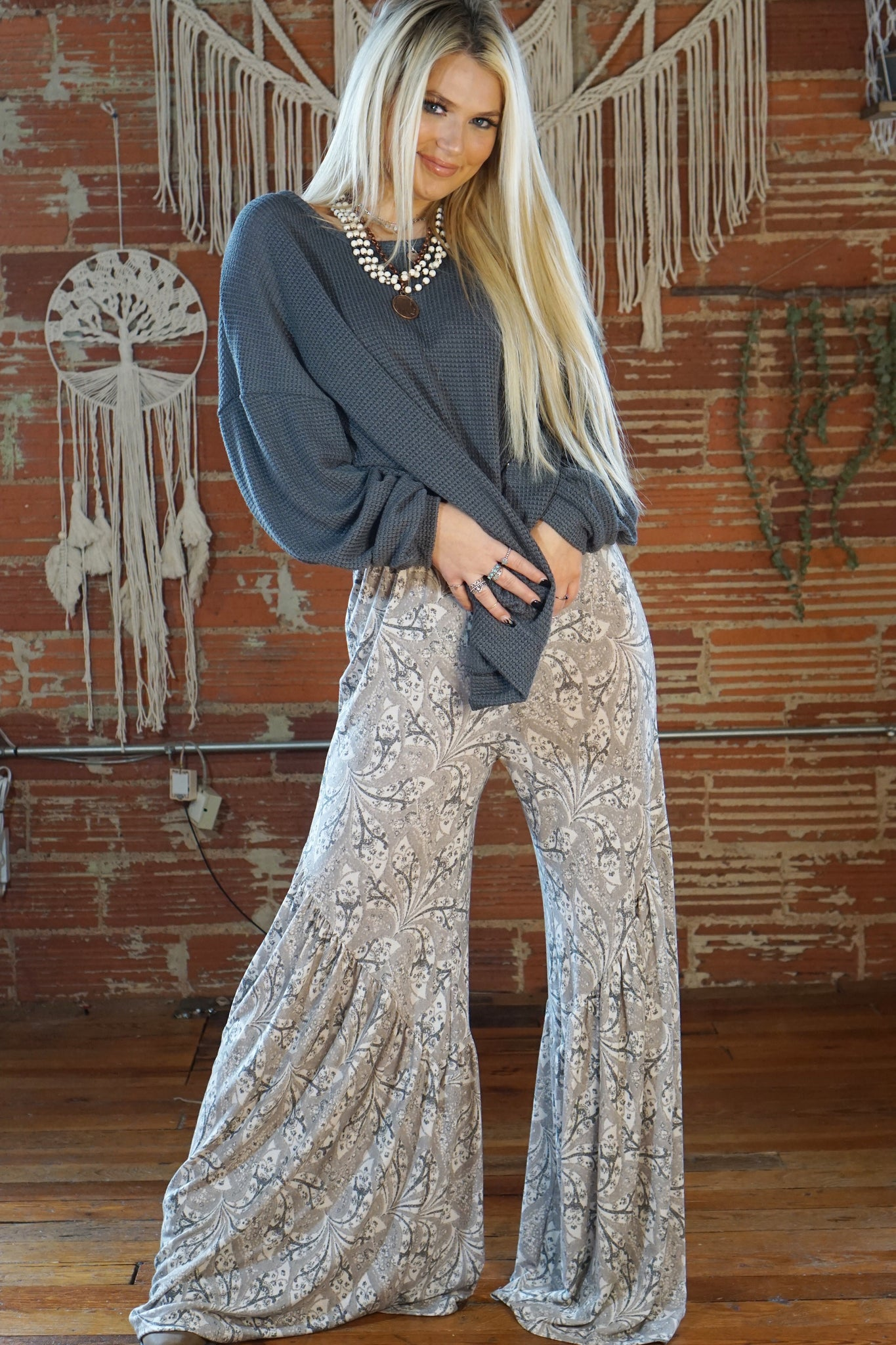 Montana Grey Printed Pants