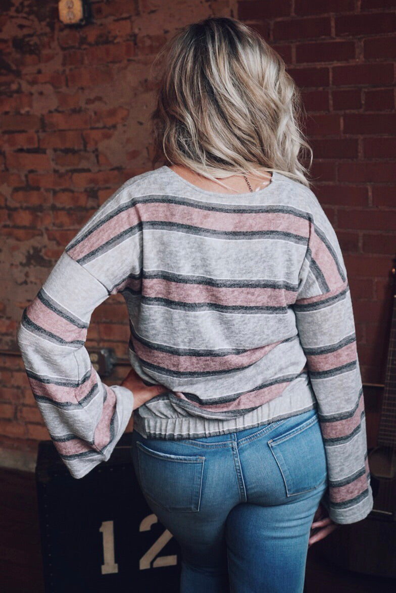 Caitlyn Striped Top