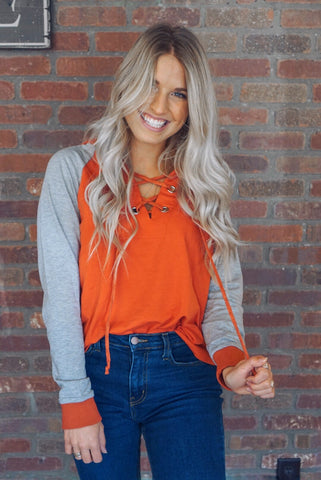 Cold Shoulder Top with Shark Bite Hem