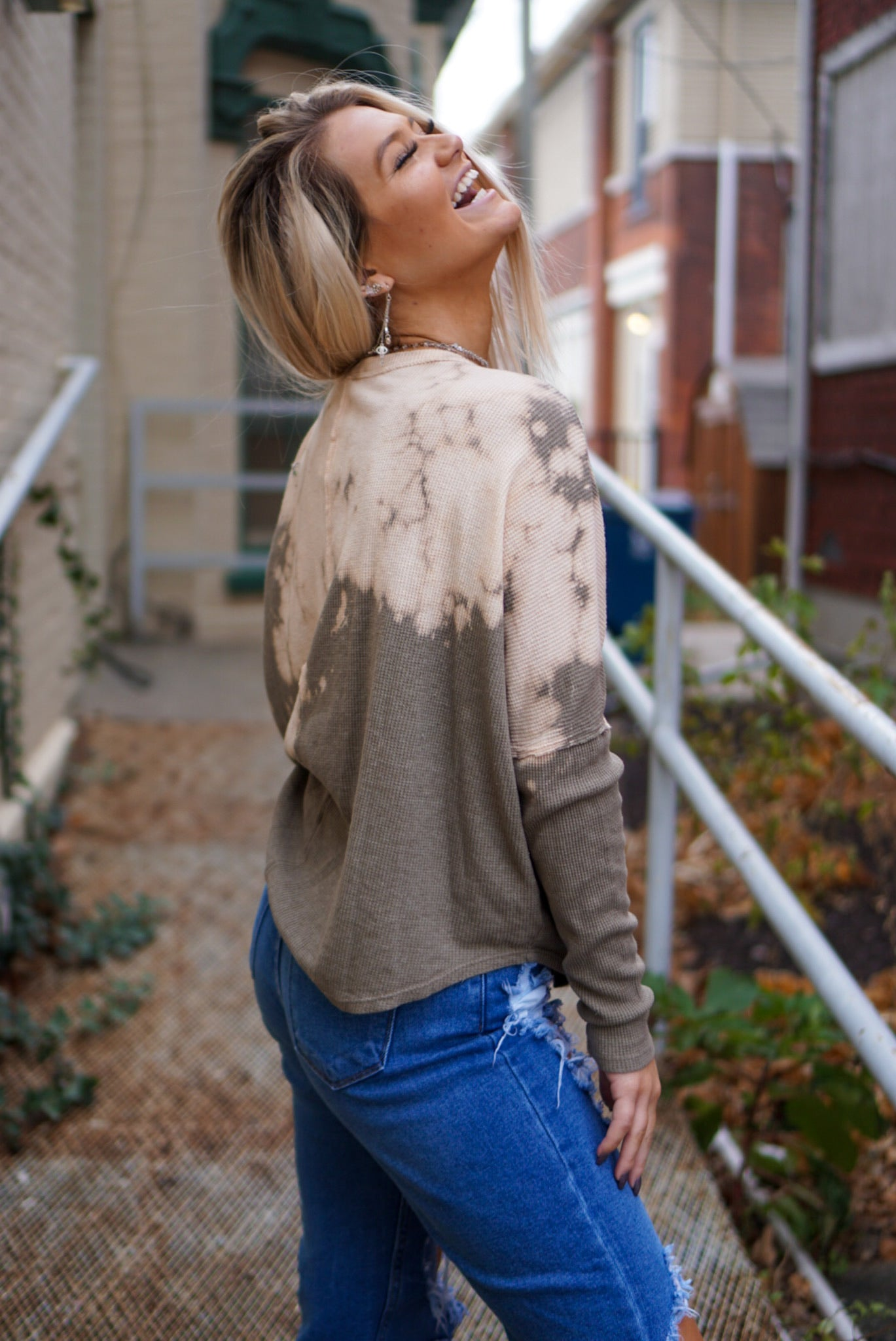 Lazy Sunday Taupe Top