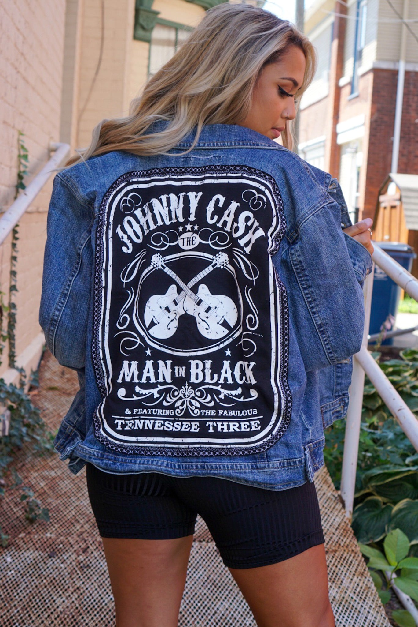 Custom Johnny Cash Denim Jacket