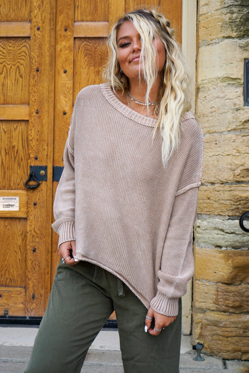Easy To Love Taupe Sweater