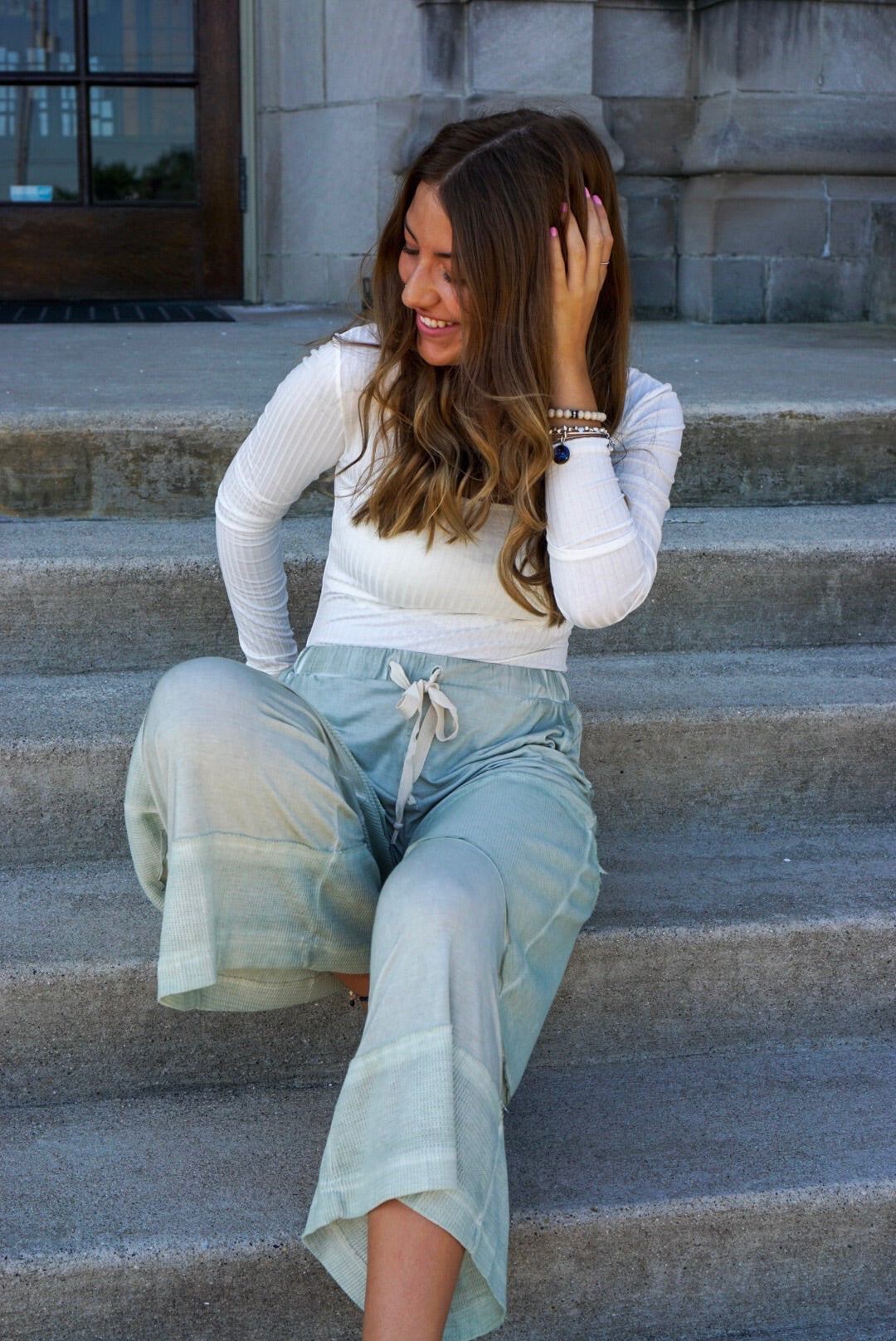 Olive Vintage Soft Lounge Pants