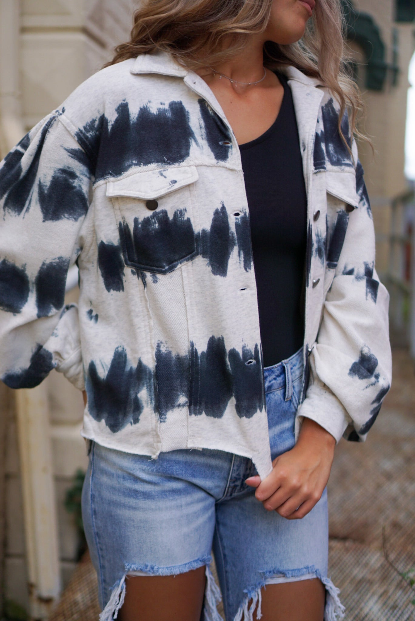 Beckett Sand Dollar Tie Dye Jacket