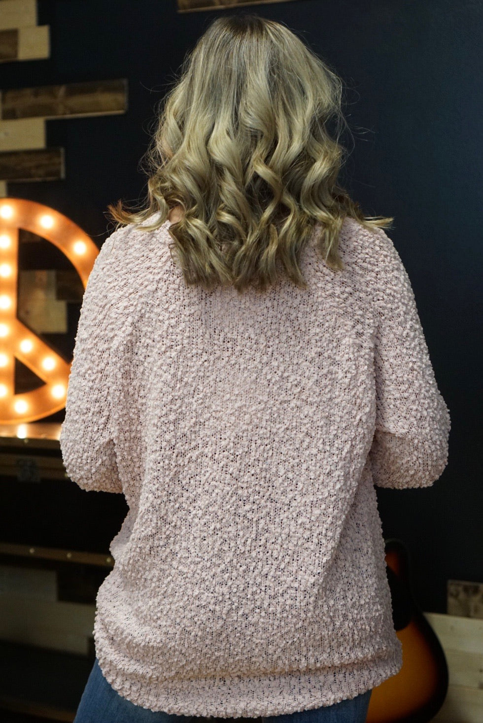 Cupid's Got Me Blush Popcorn Sweater