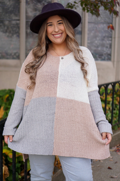 Curvy Sweet Talkin' Pastel Sweater