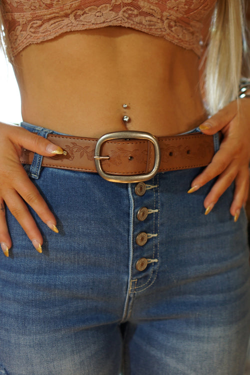 Rhinestone Natural Belt