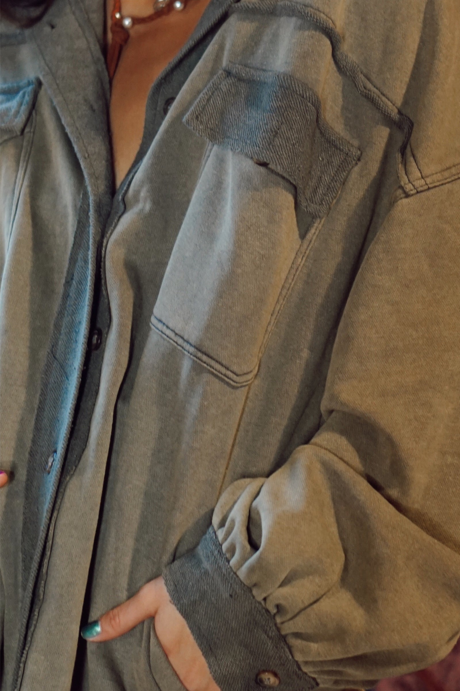 Valorie Vintage Worn Shacket