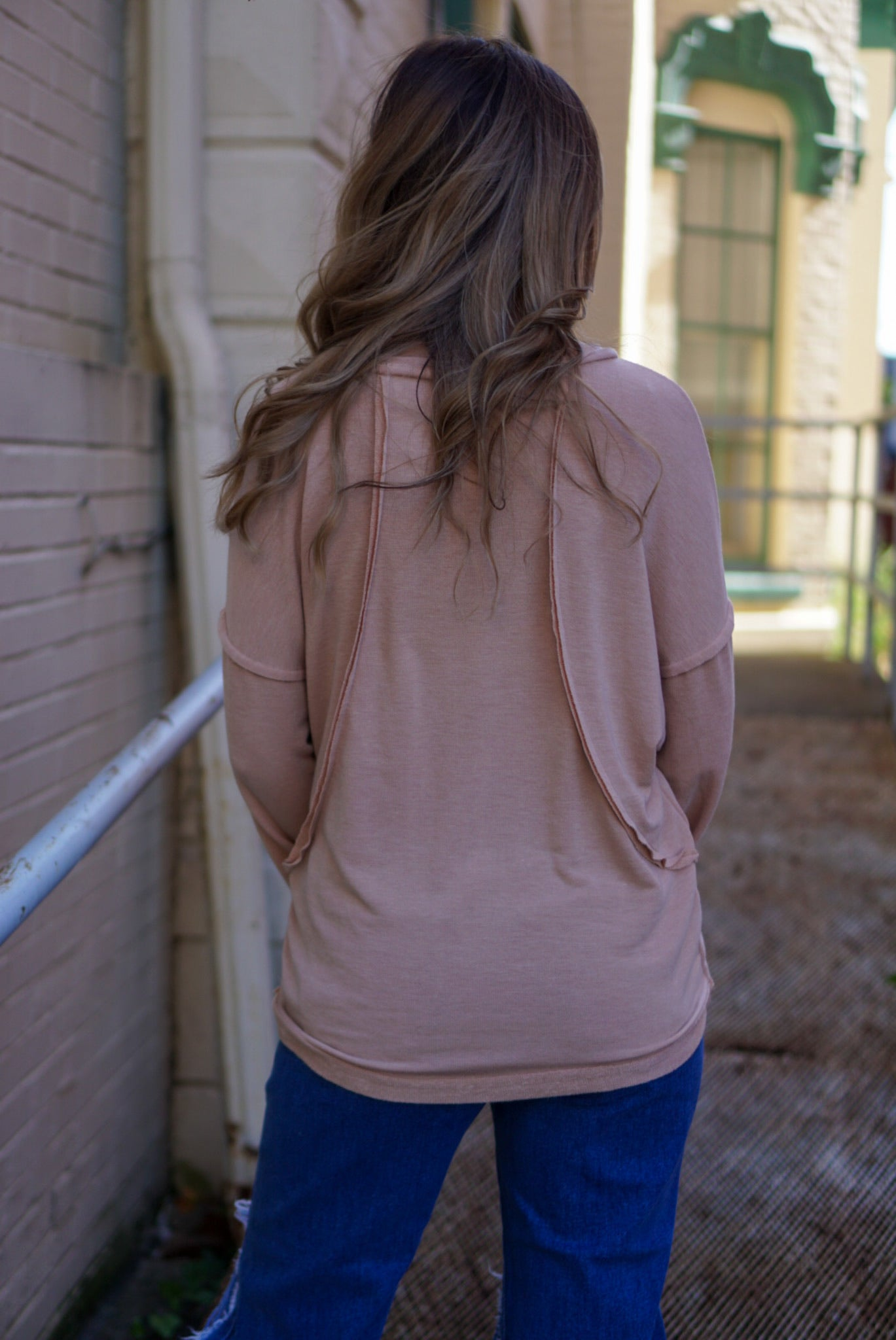 FINAL SALE Tell Me About It Camel Top