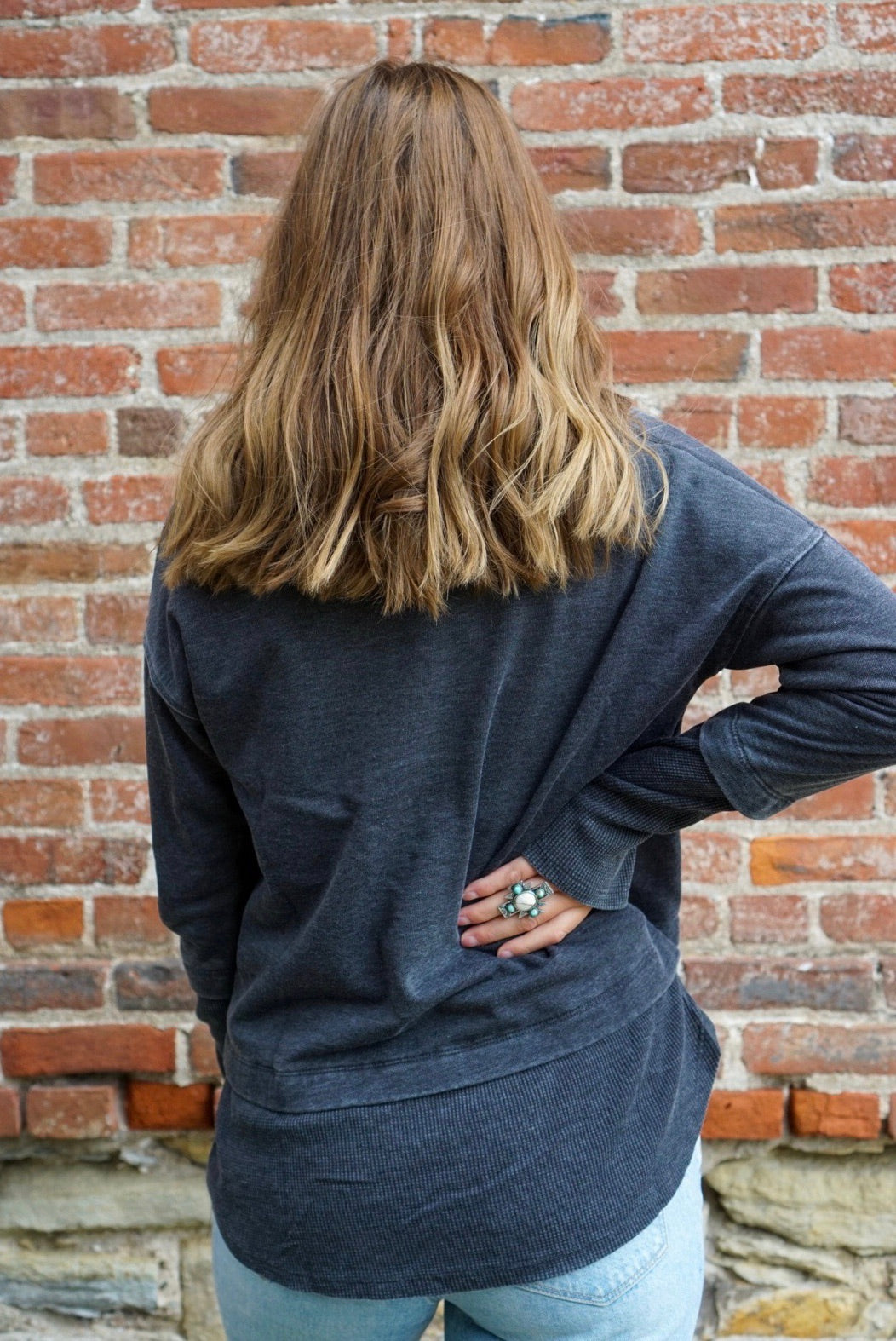 Alice Black Cowl Neck Sweatshirt